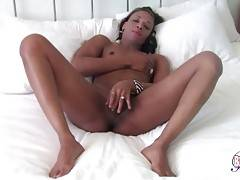 Lovely Black T-Girl Plays With Her Dick 2