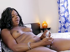 Layla Bugatti is a sexy thick bodied tgirl with a juicy ass, nice tits and a long hard cock! See this horny tgirl jacking her hard cock and showing off her sexy ass!