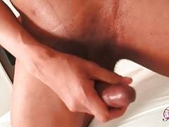 Awesome T-Ebony Kitty Rubs Her Boner 1