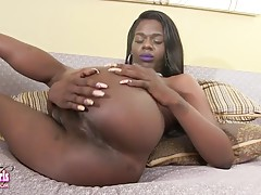 Cassandra Grande is a hot tgirl with a sexy slim body, perky breasts, a great ass and a huge hard cock! Watch this sexy Grooby girl showing off her hot bubble butt and stroking her huge cock!